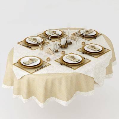 餐桌, 餐具, 现代