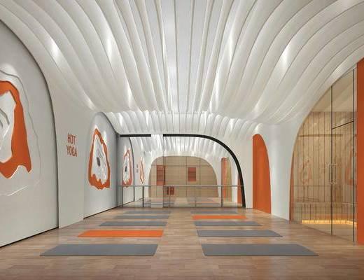 现代, 健身房, 瑜伽室, 工装