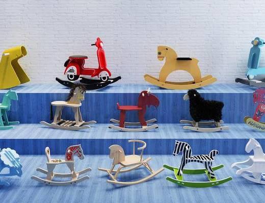 儿童木马, 摇椅, 儿童玩具