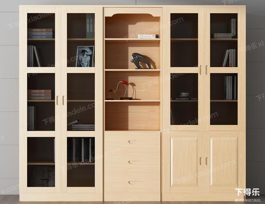 书柜, 置物柜, 装饰柜, 柜, 现代柜, 木柜