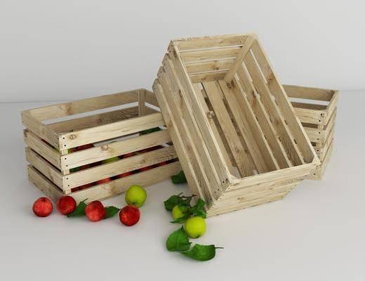 木箱, 摆件组合, 现代