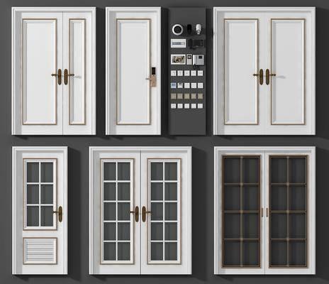 双开门, 插座组合, 电话, 密码门, 简欧