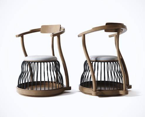 新中式, 休闲椅, 单椅