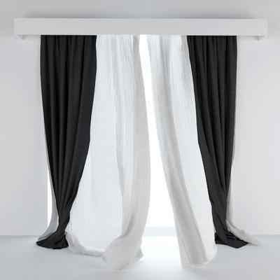 窗帘, 现代窗帘, 布艺
