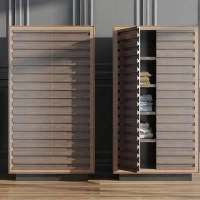 衣柜, 百叶柜, 现代, 鞋柜, 边柜, 置物柜