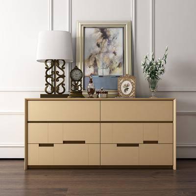装饰柜, 边柜, 摆件, 装饰品, 陈设品, 现代, 装饰画, 挂画