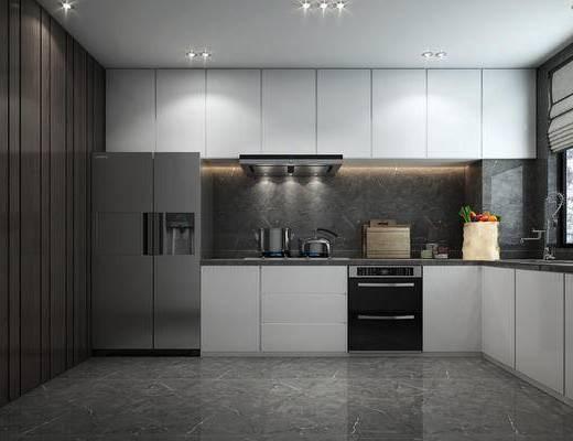 厨房, 橱柜, 厨具, 家用电器