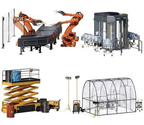 现代, 工业, 机器人, 机械手臂