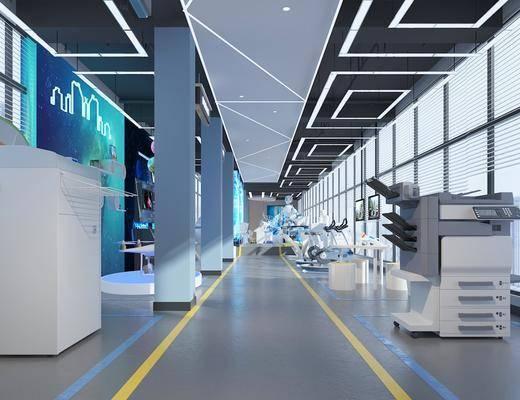 展厅, 现代展厅, 科技展厅, 科技设备