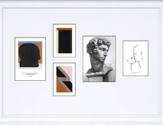 装饰画, 挂画, 照片墙, 艺术画, 北欧