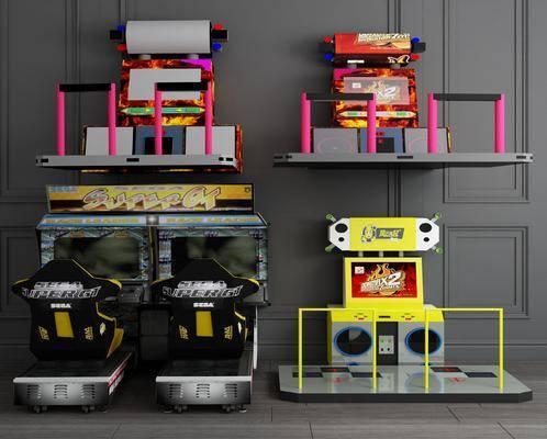 跳舞机, 赛车, 游戏机组合