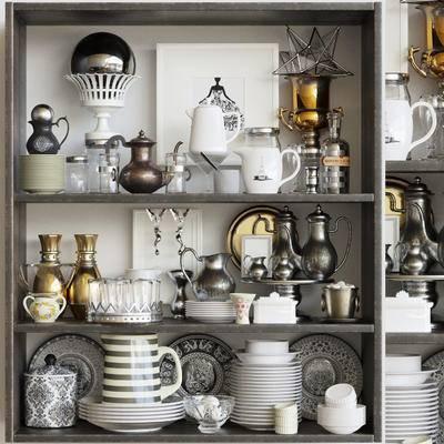 陈设品, 摆件, 餐具, 欧式, 古典, 碗碟, 水壶