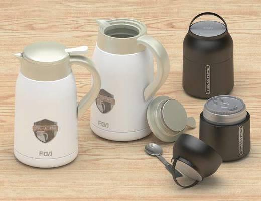 现代, 保温杯, 暖壶, 单体