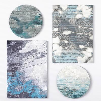 地毯, 新中式地毯, 圆形地毯
