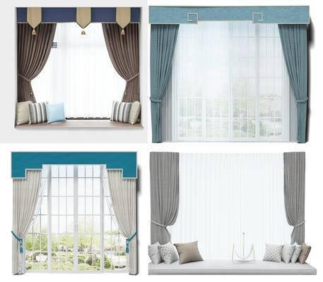 窗帘, 组合, 装饰