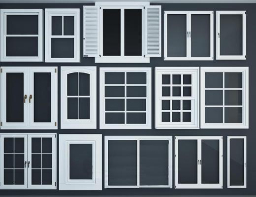 现代简约, 窗户, 组合