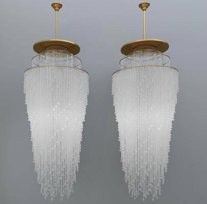 金属吊灯, 玻璃吊灯, 水晶吊灯, 现代轻奢