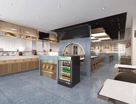 现代餐厅, 餐厅, 餐桌椅