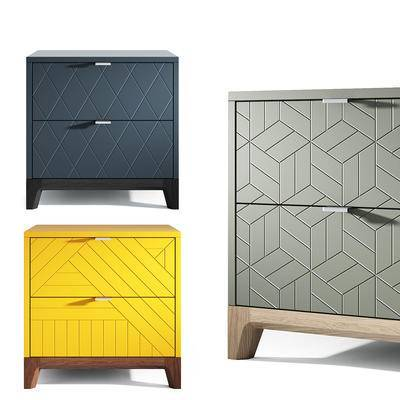 床头柜, 矮柜, 边柜, 柜, 现代简约