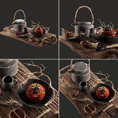 水壶, 杯子, 碗, 中式, 新中式