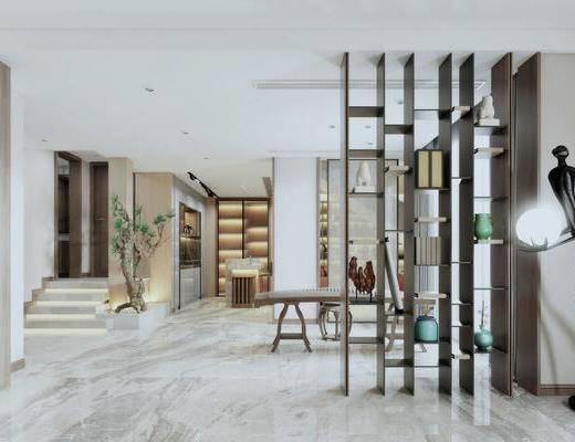 新中式休息室, 琴房, 摆件