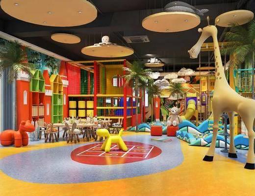 幼兒園, 游樂園, 活動中心