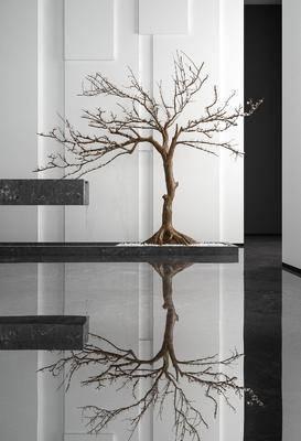 現代, 裝飾樹, 擺件