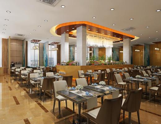 餐厅, 餐桌椅, 桌椅组合, 现代餐厅, 桌子, 餐具