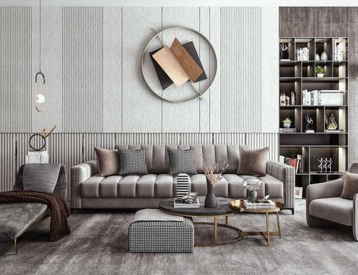 多人沙发, 休闲椅, 雕塑, 墙饰, 摆件