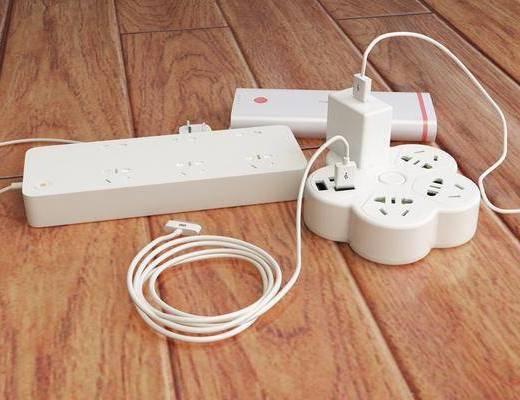 插排, 插线板, 充电宝, 充电器