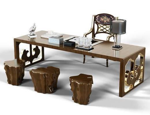 中式, 现代, 书桌