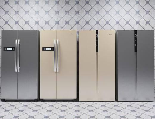 冰箱, 冰柜, 双开门冰箱, 现代, 家电