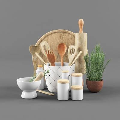廚具, 盆栽, 綠植植物, 北歐