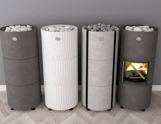 暖爐桑拿, 桑拿炭爐, 現代