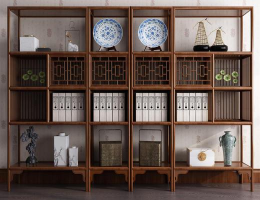新中式, 装饰架, 饰品