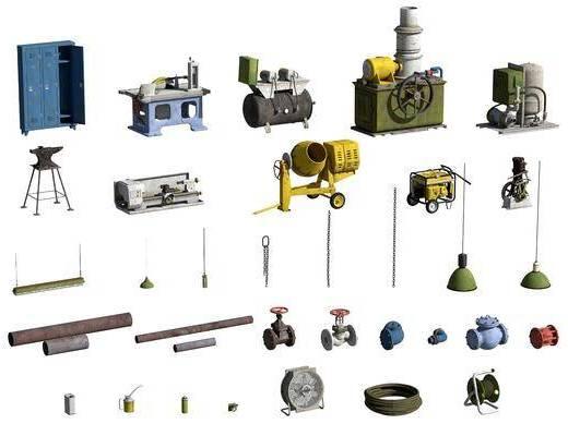 工业风, 机器, 设备, 单体
