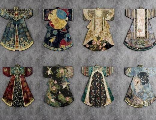 中式, 服饰, 挂件
