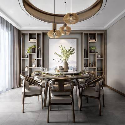 新中式, 餐廳, 桌椅組合