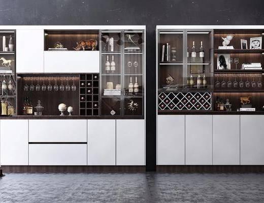酒柜組合, 裝飾柜組合, 酒瓶組合, 現代