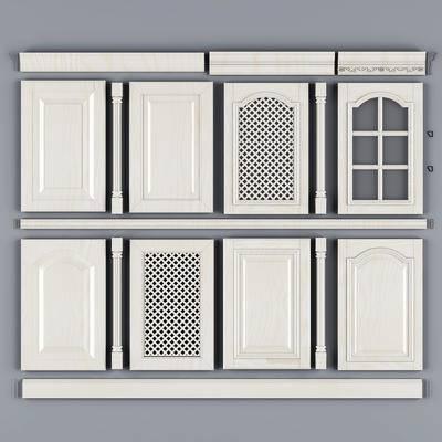 门板, 抽屉门, 柜门, 吊板