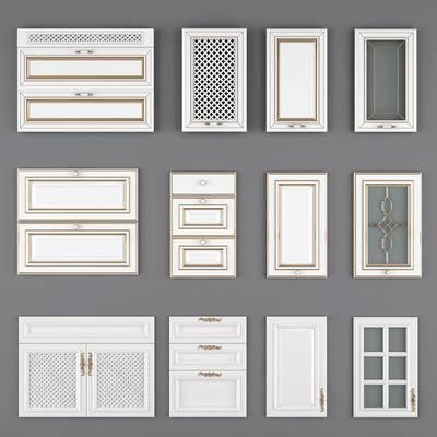门, 构件, 门板, 橱柜, 吊柜, 衣柜, 柜门