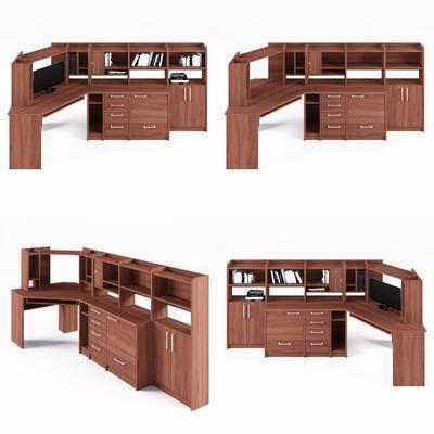 办公桌, 中式
