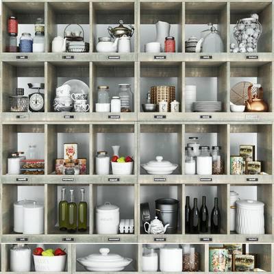 现代厨房厨具餐具生活用品食物组合, 现代, 餐具, 生活用品, 食物