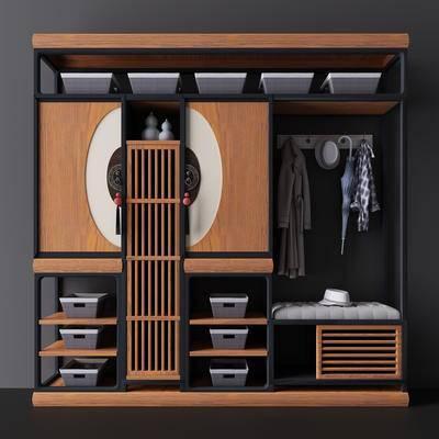 衣帽架, 衣架, 衣柜, 衣服, 柜, 木柜