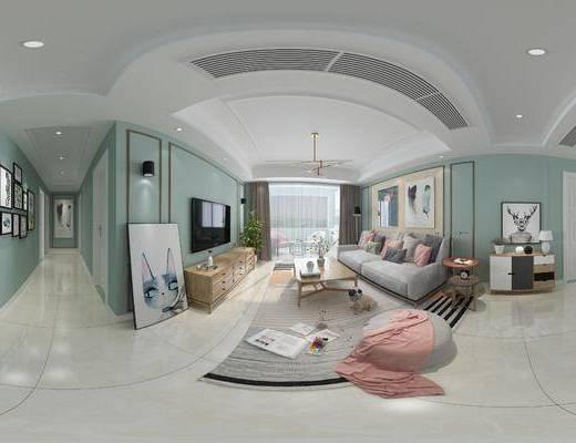 客厅, 北欧客厅, 现代客厅, 北欧沙发, 沙发组合, 沙发茶几组合