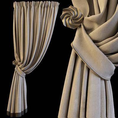 窗帘, 布艺窗帘, 现代