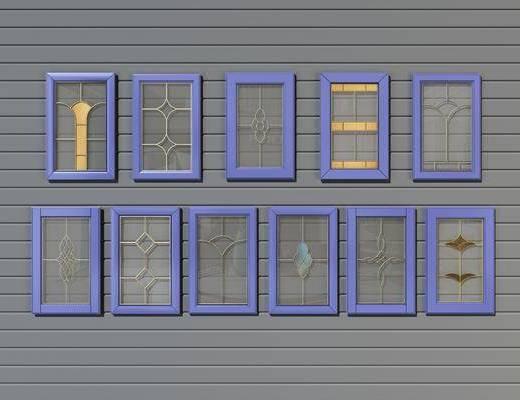 玻璃门板, 柜门, 现代