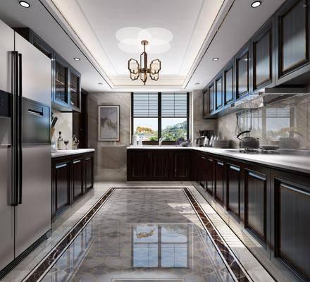 厨房, 橱柜厨具, 厨具组合, 摆件组合, 新中式