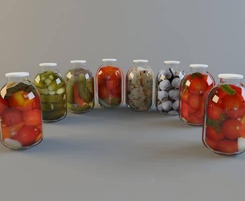 现代, 罐头, 泡菜, 瓶子