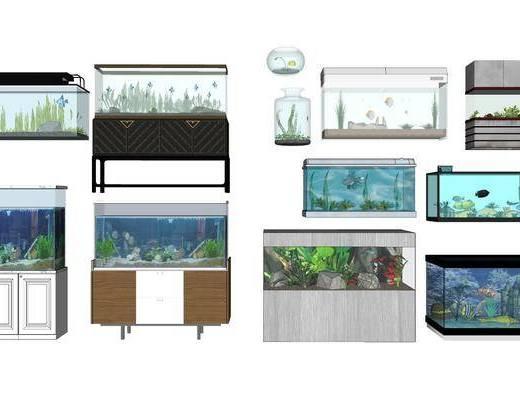 现代鱼缸, 鱼缸组合